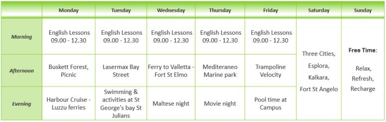 NSTS Teens English Summer Adventure Activity Programme