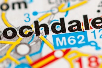 Map showing Rochdale