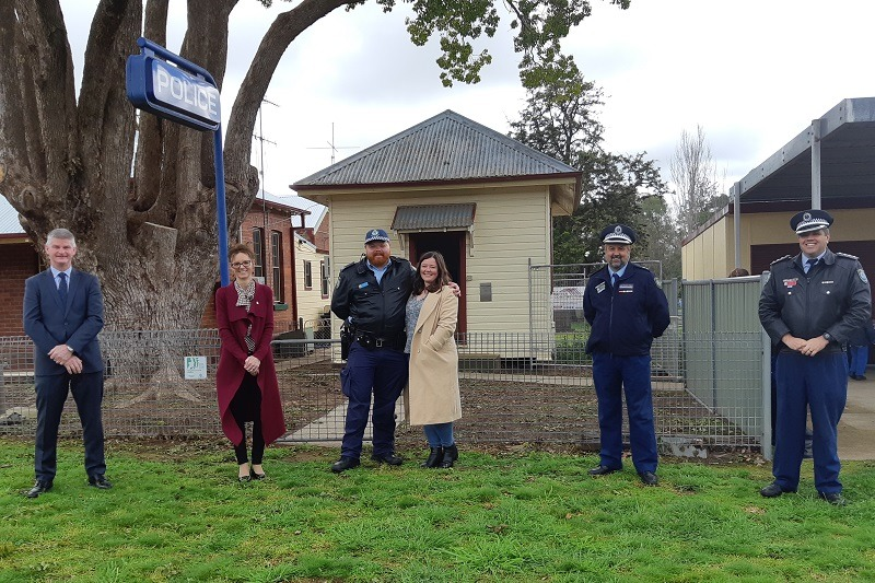 Steph Cooke MP inspects the refurbishment of the Koorawatha Police Station.