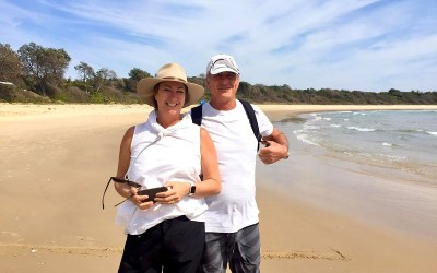Mel's great coast walk for two great causes