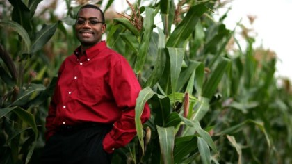 Dr. Akinwumi in A Maize farm