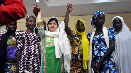 Résultats de recherche d'images pour « We Will Rescue Chibok Girls in Captivity, President Assures Malala »