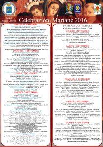 programma celebrazioni mariane 2016