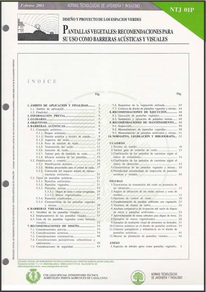 NTJ 01P Pantallas vegetales_ recomendaciones para su uso como barreras acústicas y visuales