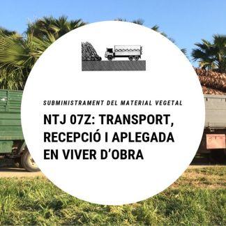 NTJ 07Z Transport, recepció i aplegada en viver d'obra