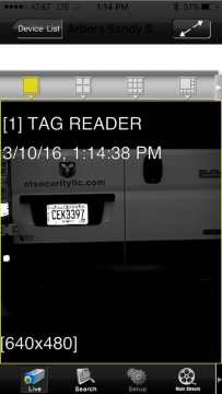 Example of a license plate camera capture