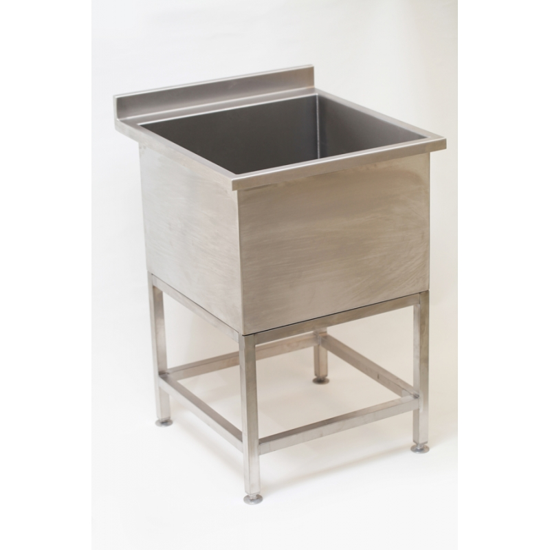 small stainless steel dog wash sink