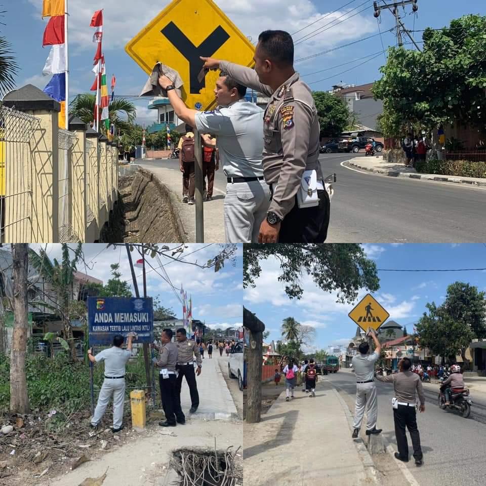 Turun ke Jalan, Jasa Raharja Libatkan Semua Personil Bersihkan Rambu-Rambu Lalu Lintas