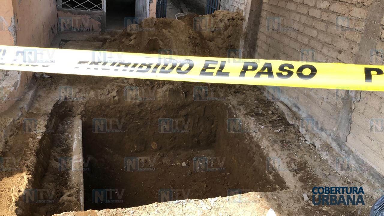 Hallan albañiles cuerpo de un bebé enterrado en una obra en Tepic