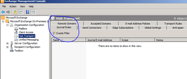 Question:How To Create A Journal Rules In Exchange Server