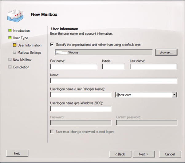 Question:How To Configure Room Finder In Exchange Server 2010 Step By Step (3/6)
