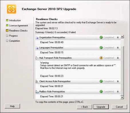 Updating exchange 2010 sp1 to sp2