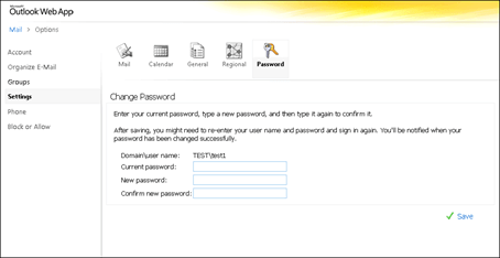 Question: How To Change Password Using OWA Outlook Web App
