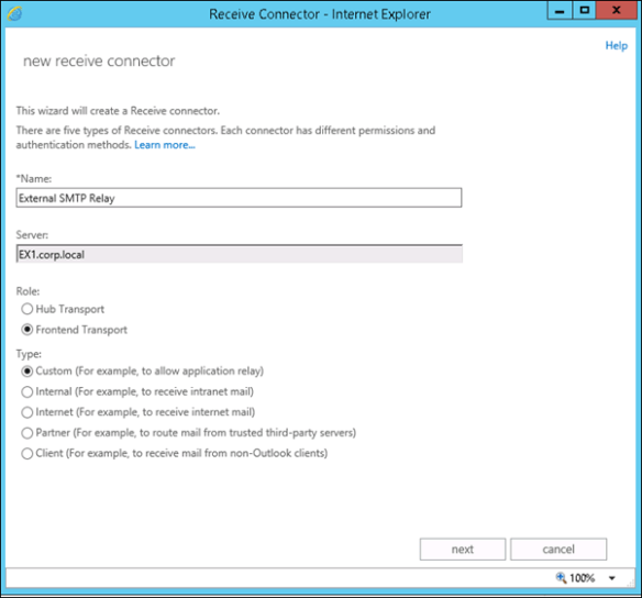 Create External SMTP Relay Exchange Server 2013 - Cloud and DevOps Blog