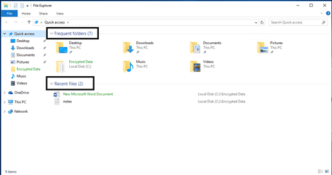 how to stop recent files in windows 10