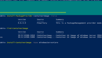 Install And Run IIS Server Inside Windows Container Running