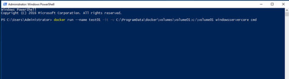 Attach Data Volume To A Windows Container Using Docker