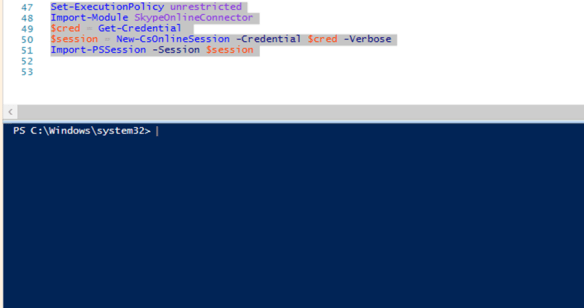 connect to skype for business online powershell