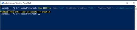 How To Create An IIS Web Site On Windows Nano Server 2016
