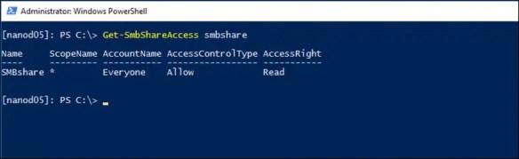 How To Create An SMB File Share On Windows Nano Server 2016