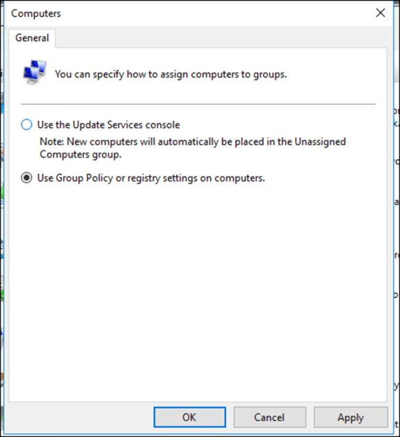 Windows Server 2016 WSUS Group Policy Configuration Part 2
