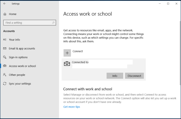How to Disjoin Disconnect Windows 10 Machine from Intune