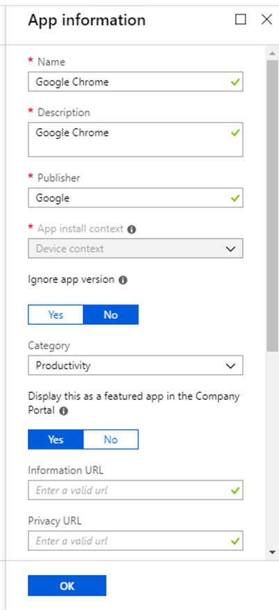 Deploy Google Chrome with Microsoft Intune to Windows 10