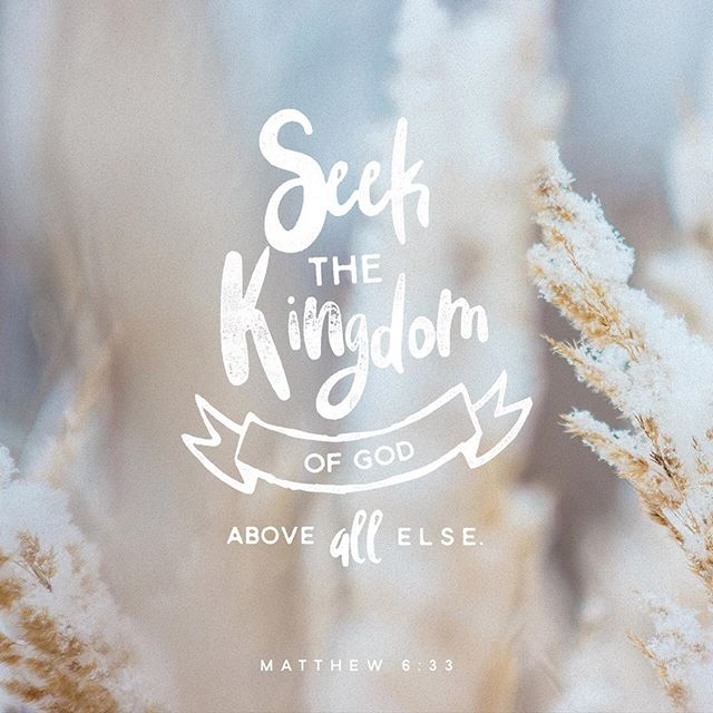 Image result for seek first the kingdom of god