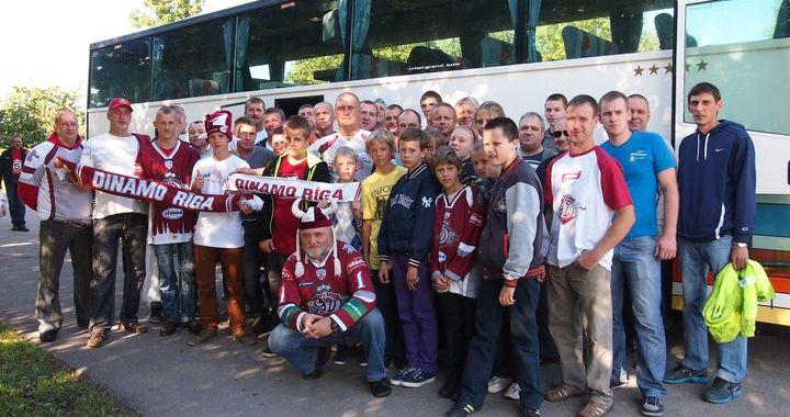 Kandavnieki jau 6. sezonu dodas uz Rīgu atbalstīt Rīgas «Dinamo» KHL spēlēs