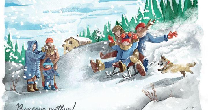 Izmanto iespēju bez maksas nosūtīt īpaša dizaina Ziemassvētku pastkartīti
