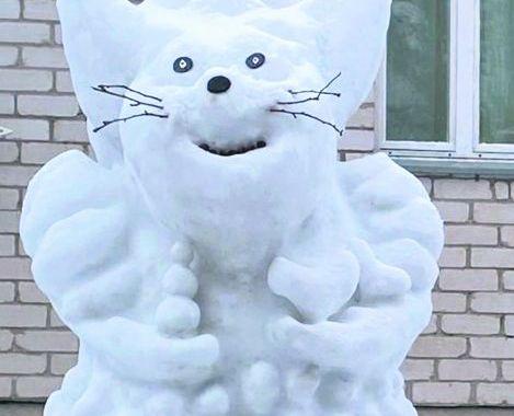 Uzvel savu sniegoni!