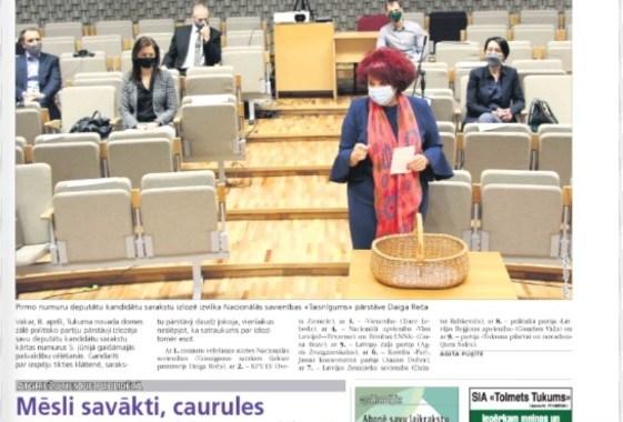 9. aprīļa laikraksta apskats