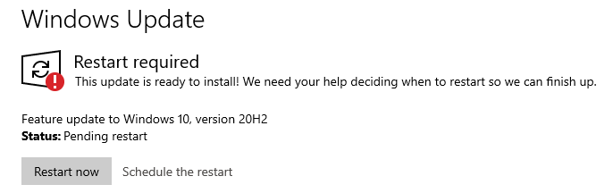 ending of servicing for windows 10 version 1909 update screen