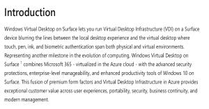 Windows Virtual Desktop on Surface