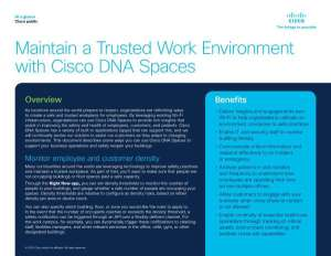 Maintain a Trusted Work Environment with Cisco DNA Spaces