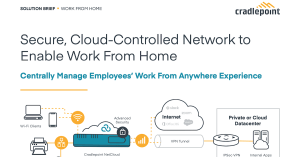 Secure, Cloud-Controlled Network to Enable Work from Home