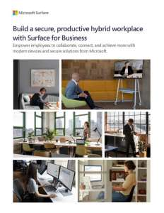 Surface and the Hybrid Workplace