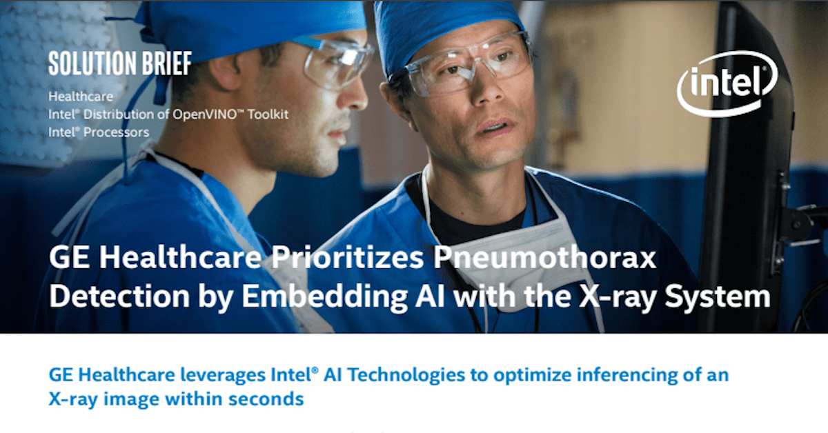 GE Healthcare Prioritizes Pneumothorax Detection by Embedding AI with the X-Ray System