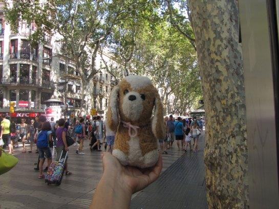 Por las Ramblas de Barcelona (España)