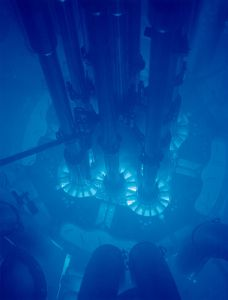 Cherenkov Radiation in the Advanced Test Reactor core, Idaho National Laboratory