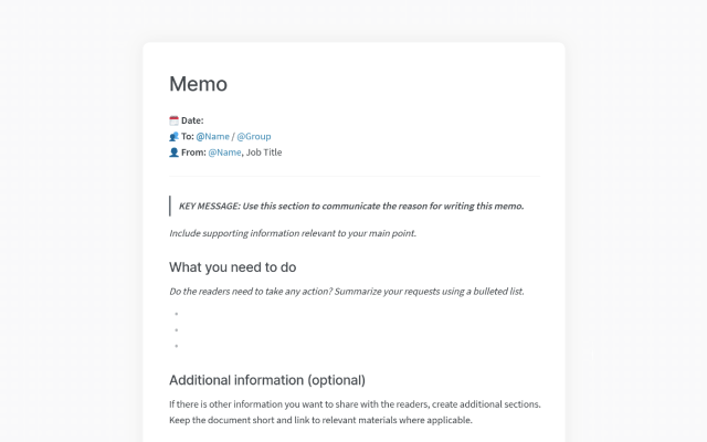How to Write a Business Memo: Format, Templates, and Examples