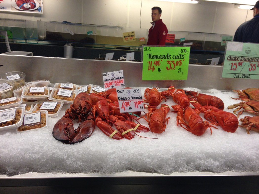 Lobsters Fresh Raw Red Seafood