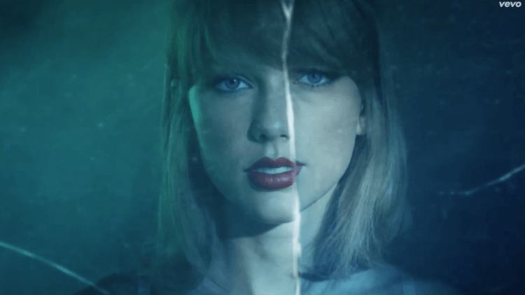 Taylor Swift Style Nudabite Montreal Girl Blue Mirror
