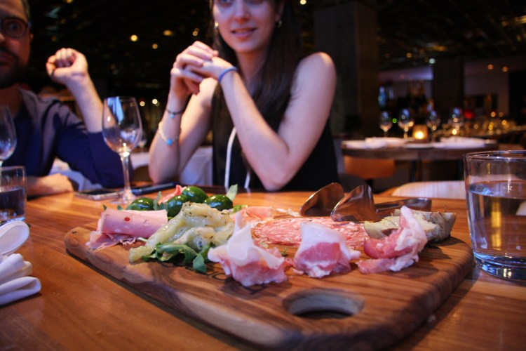 Charcuterie platter at Ristorante Buonanotte is on point.