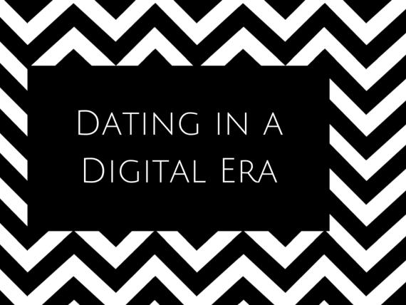 Dating Digital Era Black White B&W Canva