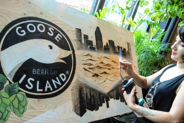 Girl SUWU Goose Island Beer tatoueuse Émilie Huot