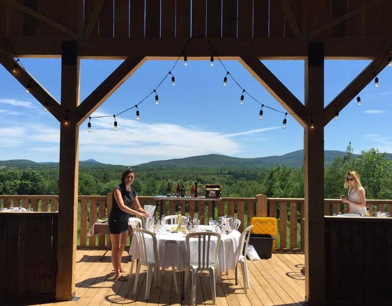Wine Country Quebec wineries eastern townships mountains hills green blue summer luxury living