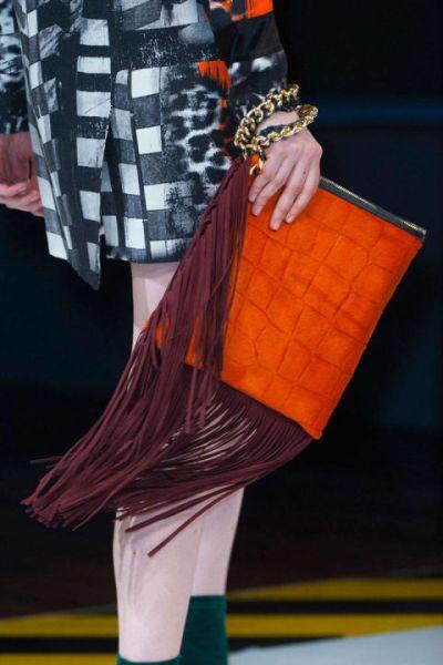 Elle Fall Handbag Burnt Orange Suede Fringe