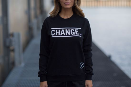 Views for Change womens black sweatshirt Montreal Canadian