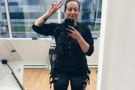 Studio X Ville Saint-Laurent Nudabite Fitness Tech 20 min workout girl mirror selfie